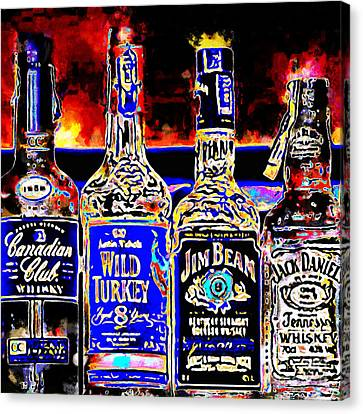 Always Carry A Bottle Of Whiskey In Case Of Snakebite 20140917 V5 Square Canvas Print