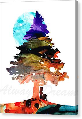 Always Dream - Inspirational Art By Sharon Cummings Canvas Print by Sharon Cummings