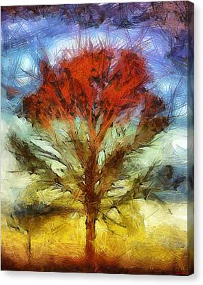 Canvas Print featuring the drawing Always Reaching Up by Joe Misrasi