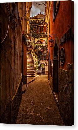 Amalfi Alleyway Canvas Print by Matthew Onheiber
