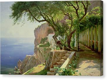 Gorgeous View Canvas Print - Amalfi by Carl Frederick Aagaard