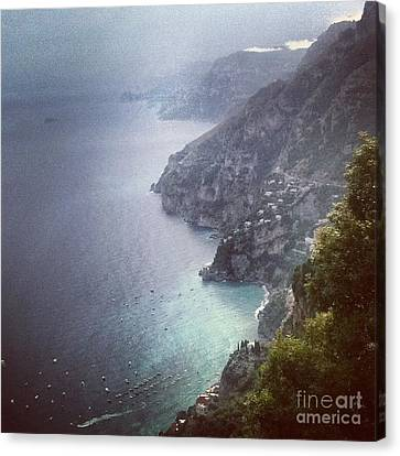 Amalfi Coast And Beyond Canvas Print by H Hoffman