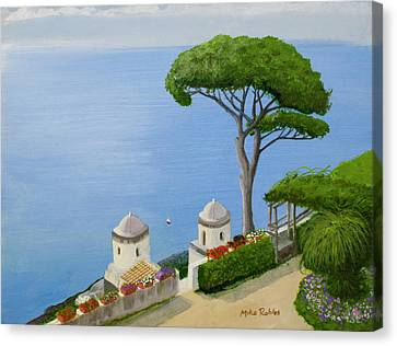 Amalfi Coast From Ravello Canvas Print by Mike Robles