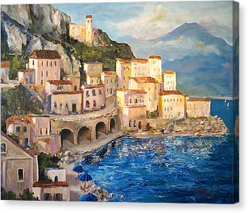 Amalfi Coast Highway Canvas Print