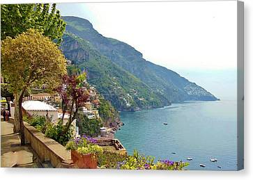 Amalfi Coast In Bloom Canvas Print