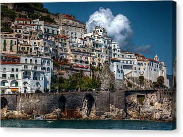 Canvas Print featuring the photograph Amalfi Coast by Uri Baruch