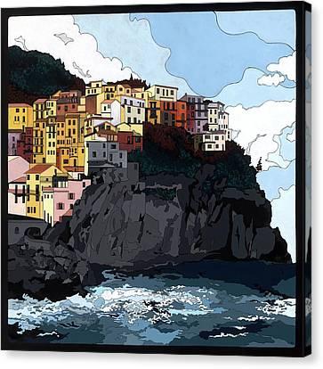 Manarola W/hidden Pictures Canvas Print by Konni Jensen