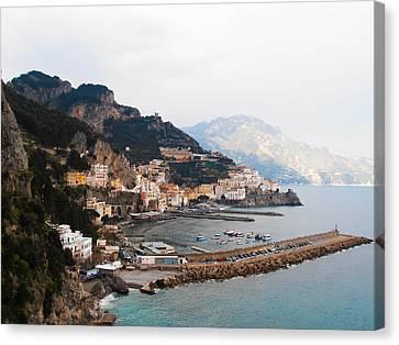 Amalfi Italy Canvas Print by Bill Cannon