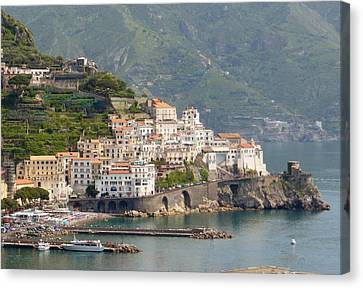 Amalfi Splendor Canvas Print by Marilyn Dunlap