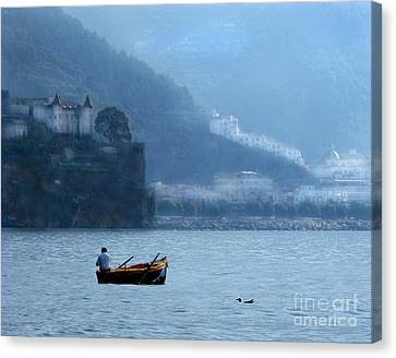 Canvas Print featuring the photograph Amalfi To Capri. Italy by Jennie Breeze