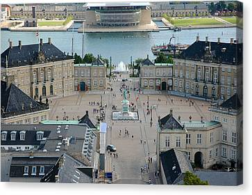 Canvas Print featuring the photograph Amalienborg Palace Copenhagen by Mary Lee Dereske