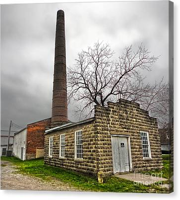 Amana Colonies Old Brewery - 01 Canvas Print by Gregory Dyer