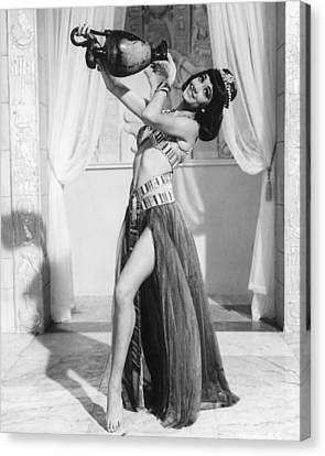 Amanda Barrie In Carry On Cleo  Canvas Print