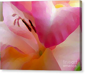 Gladiola Photo Painting Canvas Print