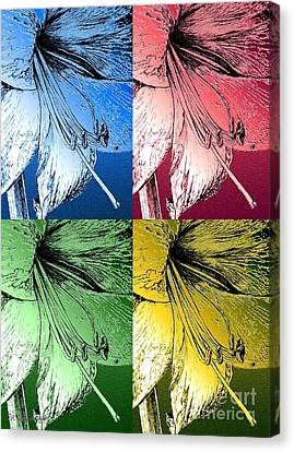 Amaryllis Pop Art Canvas Print