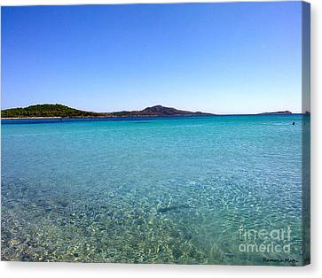 Canvas Print featuring the photograph Amazing Blue by Ramona Matei