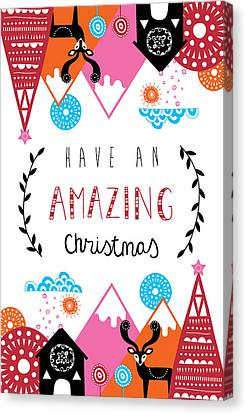 Christmas Flower Canvas Print - Amazing Christmas by Susan Claire