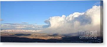 Amazing Cloud Swallows Red Rocks Of Sedona Arizona Canvas Print by Ron Chilston
