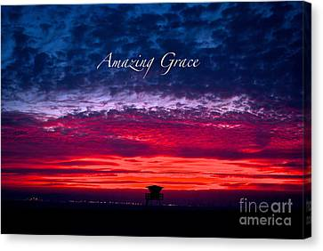 Canvas Print featuring the photograph Red Sky At Night by Margie Amberge