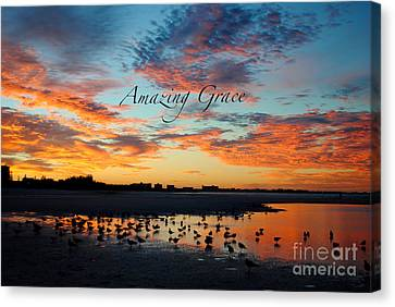 Canvas Print featuring the photograph Amazing Grace On Siesta Key by Margie Amberge