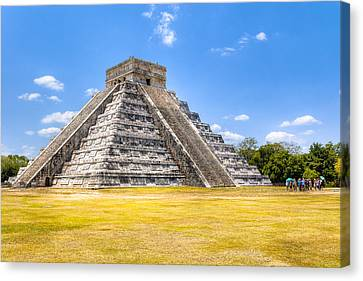 Amazing Mayan Pyramid At Chichen Itza Canvas Print by Mark Tisdale