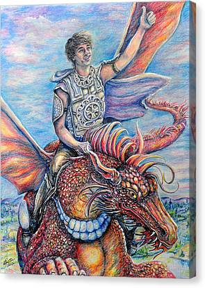 Amazing Rider Canvas Print by Gail Butler