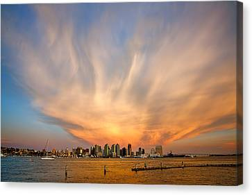 Amazing San Diego Sky Canvas Print by Peter Tellone
