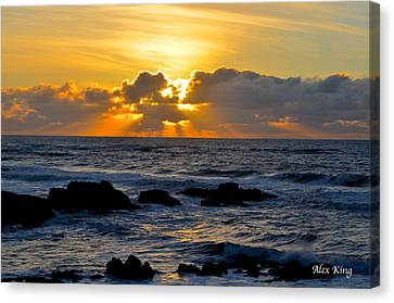 Amazing Sunset Canvas Print by Alex King