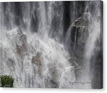 Canvas Print featuring the digital art Amazing Waterfall by Angelia Hodges Clay