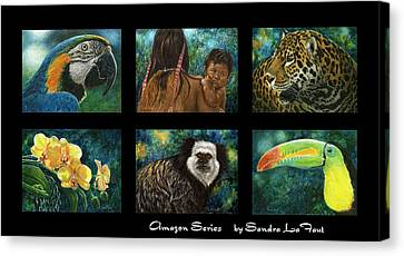 Amazon Series Collage Canvas Print by Sandra LaFaut