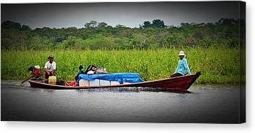 Canvas Print featuring the photograph Amazon Travel by Henry Kowalski