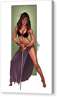 Amazone Canvas Print by Ylenia Art