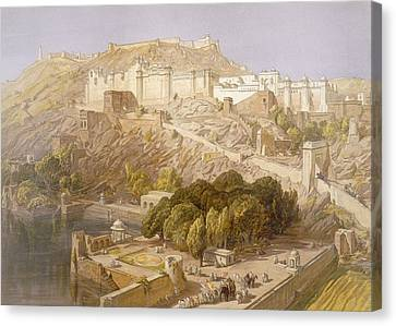 Ambair, From India Ancient And Modern Canvas Print by William 'Crimea' Simpson