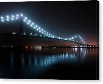 Ambassador Bridge Fog Canvas Print
