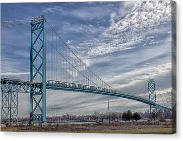 Ambassador Bridge From Detroit Mi To Windsor Canada Canvas Print