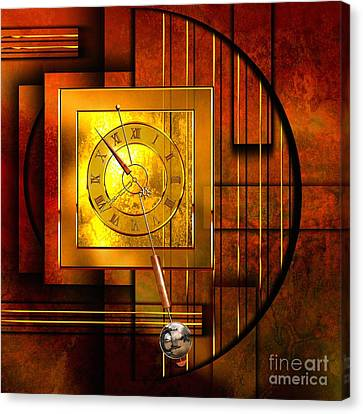 Amber Clock Canvas Print by Franziskus Pfleghart