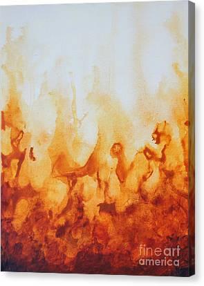 Amber Flame Canvas Print
