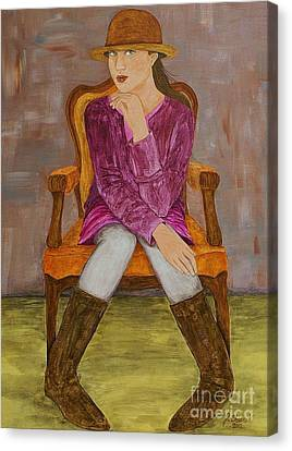 Canvas Print featuring the painting Lucy by Jane Chesnut