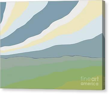 Ambiguous Landmass Canvas Print