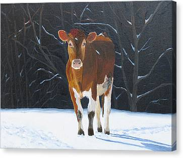 Ambling Through The Snow Canvas Print