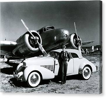 Flying Canvas Print - Amelia Earhart by Retro Images Archive