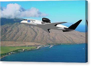 Amelia Hybrid Aircraft Canvas Print by Nasa/cal Poly