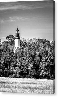 Canvas Print featuring the photograph Amelia Island Lighthouse by Wade Brooks