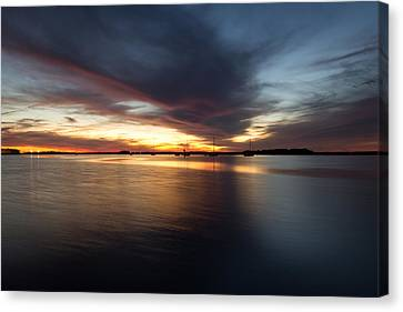 Canvas Print featuring the photograph Amelia Island Sunset by Wade Brooks