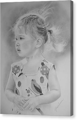 Amelia - Wind Blown Canvas Print by Melanie Spencer
