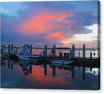 Canvas Print featuring the photograph Amelia's Marina by Paula Porterfield-Izzo