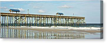 Canvas Print featuring the photograph Amelia's Pier by Paula Porterfield-Izzo