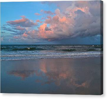 Canvas Print featuring the photograph Amelia's Sunset by Paula Porterfield-Izzo