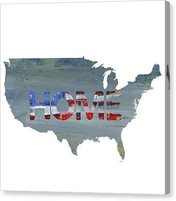 America Home Canvas Print by Pamela J. Wingard