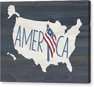 Fourth Of July Canvas Print - America by Jo Moulton